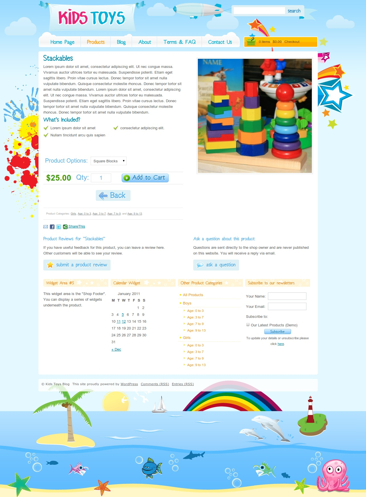 Kids Toys Shop WordPress by dtbaker