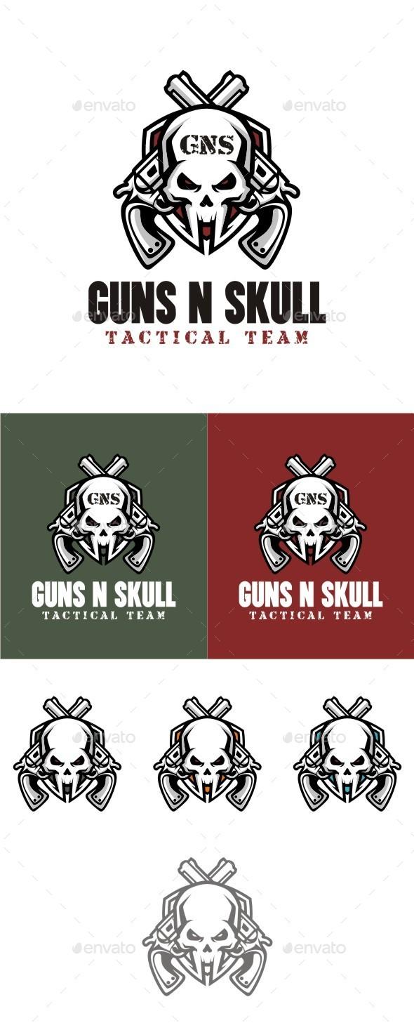 Guns n Skull - Symbols Logo Templates