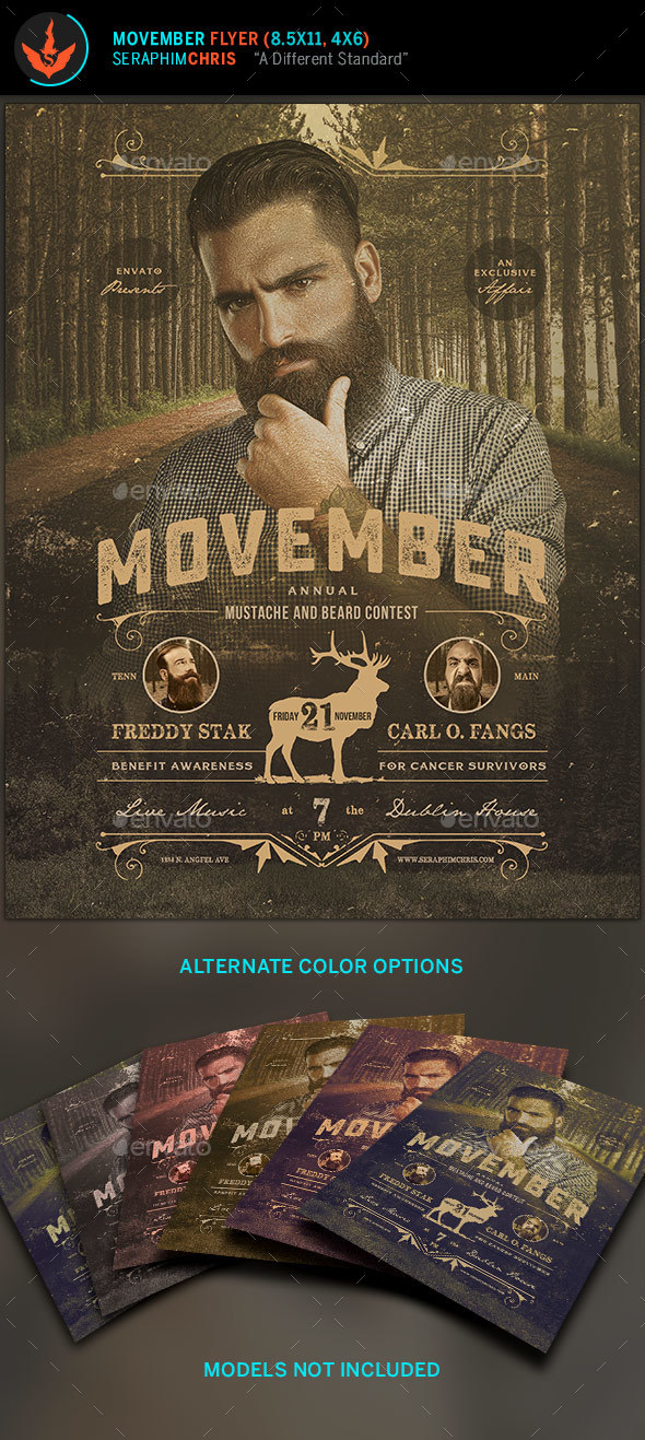 Movember Benefit Awareness Flyer Template - Events Flyers