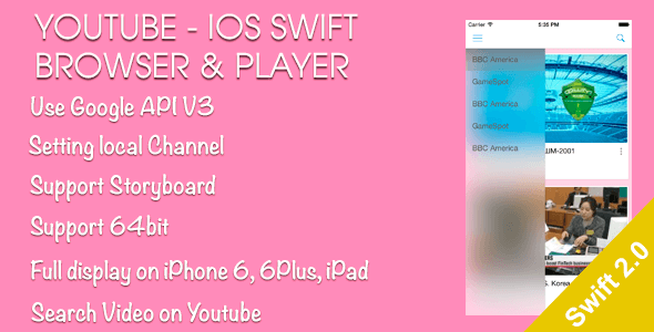 YouTube Browser and Player iOS Swift - CodeCanyon Item for Sale