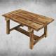 Rustic Wood Table 01