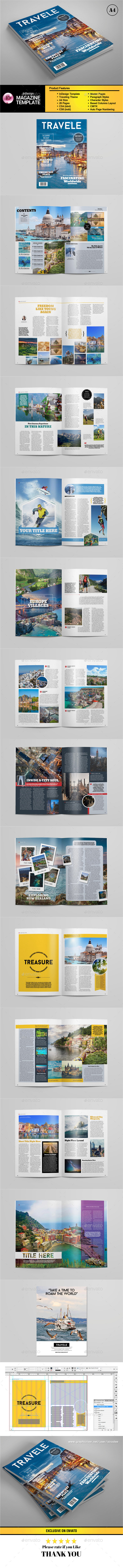 A4 Traveling Magazine Template