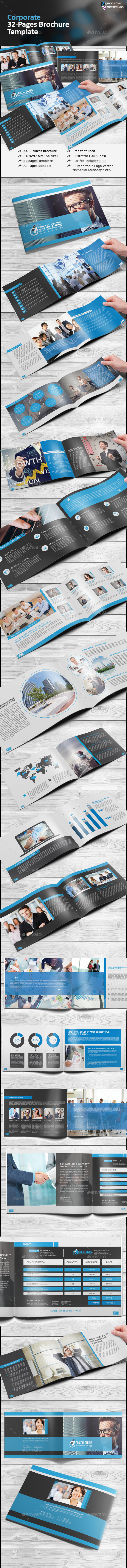 Corporate Business Brochure/Catalog - Brochures Print Templates