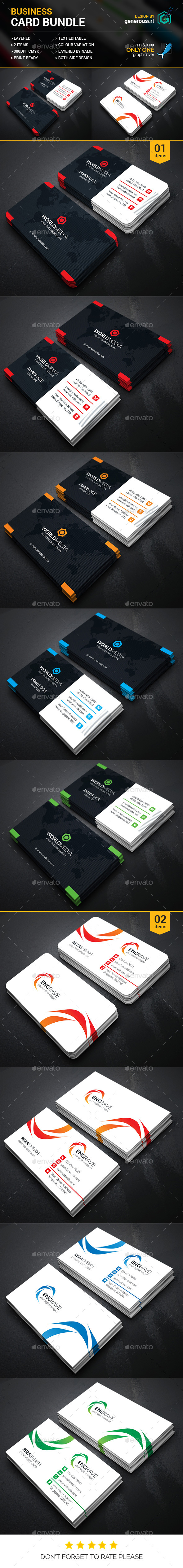 Business Card Bundle 2 in 1 vol.26