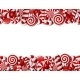 Frame Made Of Red And White Candies - GraphicRiver Item for Sale