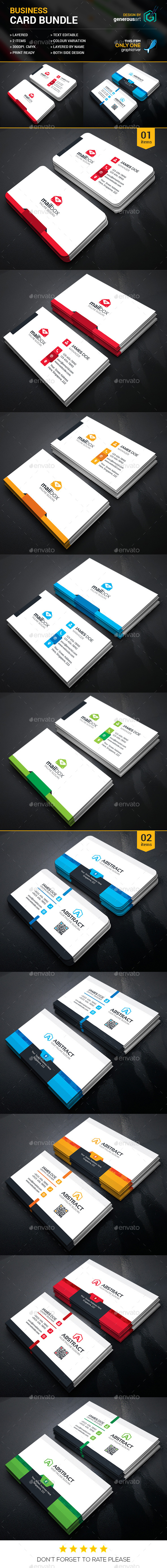 Business Card Bundle 2 in 1_vol.28 - Corporate Business Cards