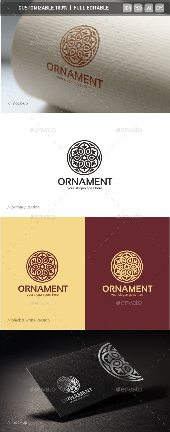 Ornament Logo Template - Abstract Logo Templates