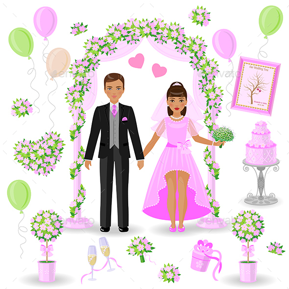 Pink and Green Wedding Design - Weddings Seasons/Holidays