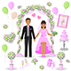 Pink and Green Wedding Design - GraphicRiver Item for Sale