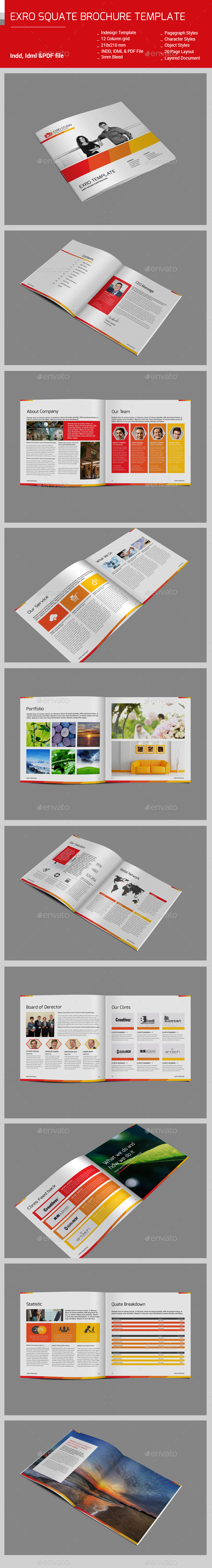 Exro Square BrochureTemplate