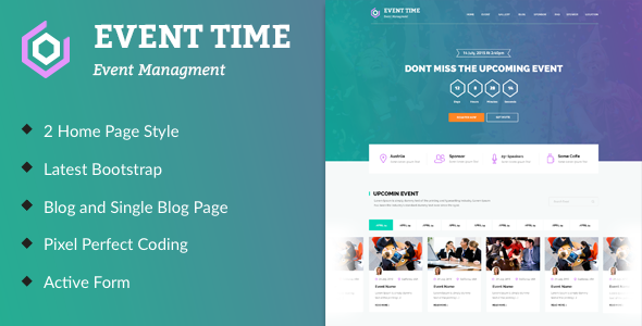 Event Time – Conference & Event HTML Template