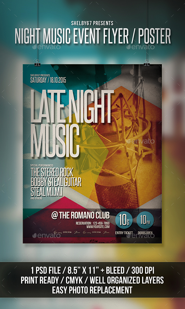 Night Music Event Flyer Poster