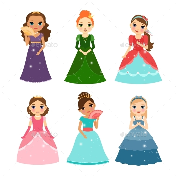 Little Girls Princess - People Characters
