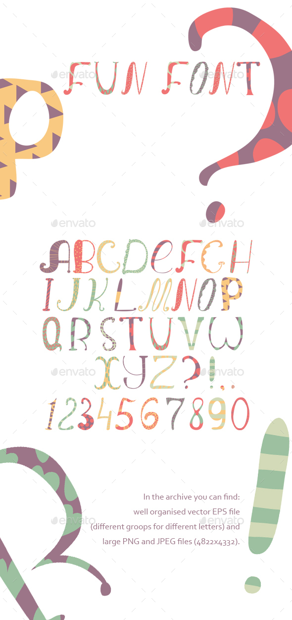 Fun Colorful Vector Font - Miscellaneous Vectors