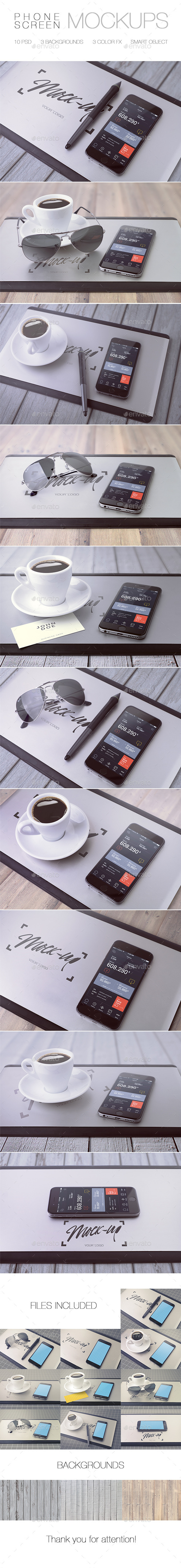 iPhone Mock-Up - Mobile Displays