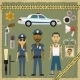 Two Police Officers, Man And Woman, Criminal - GraphicRiver Item for Sale
