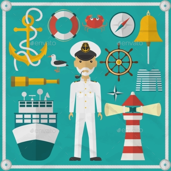 Captain Captain And Nautical Flat Icons