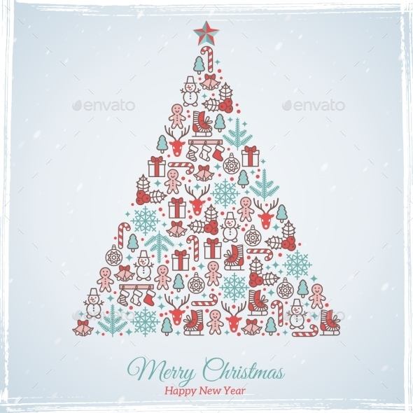 Christmas Card Design Vector Illustration