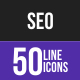 SEO Line Inverted Icons - GraphicRiver Item for Sale