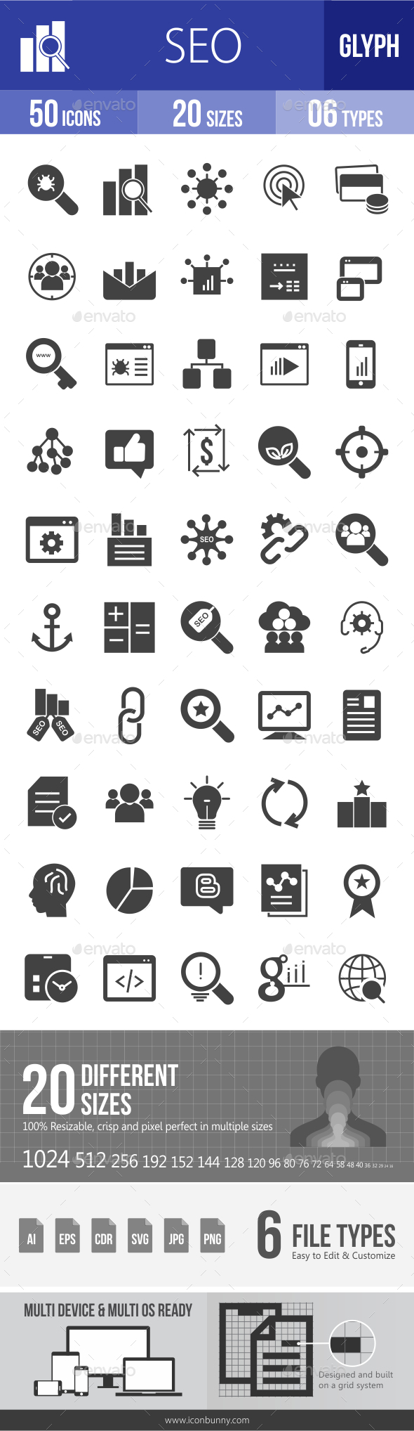 SEO Glyph Icons - Icons