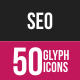SEO Glyph Inverted Icons