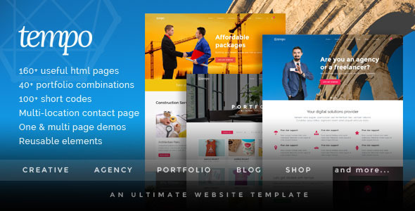 Tempo - Responsive Bootstrap Website Template
