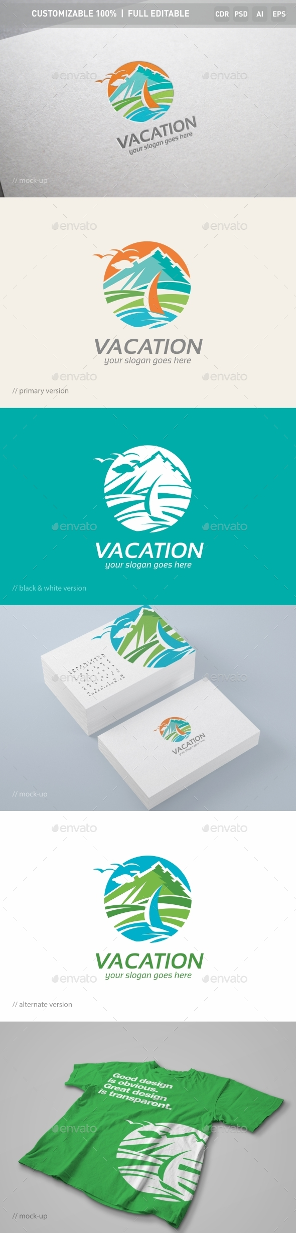 Vacation Logo Template - Nature Logo Templates