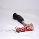 A Bloodied Hand Axe is Thrown to the Ground - VideoHive Item for Sale