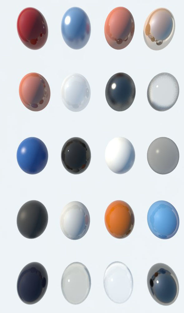 20 plastic shaders - 3DOcean Item for Sale