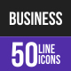 Business Line Inverted Icons
