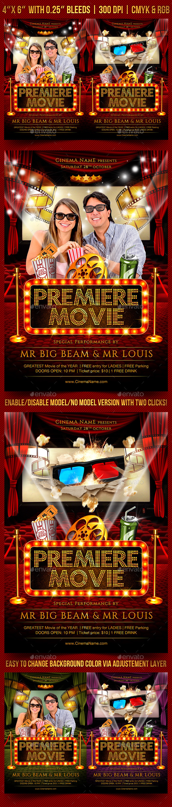 Premiere Movie Flyer Template - Events Flyers