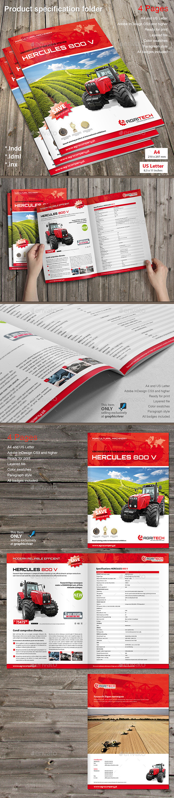 Product Specification Folder - Catalogs Brochures