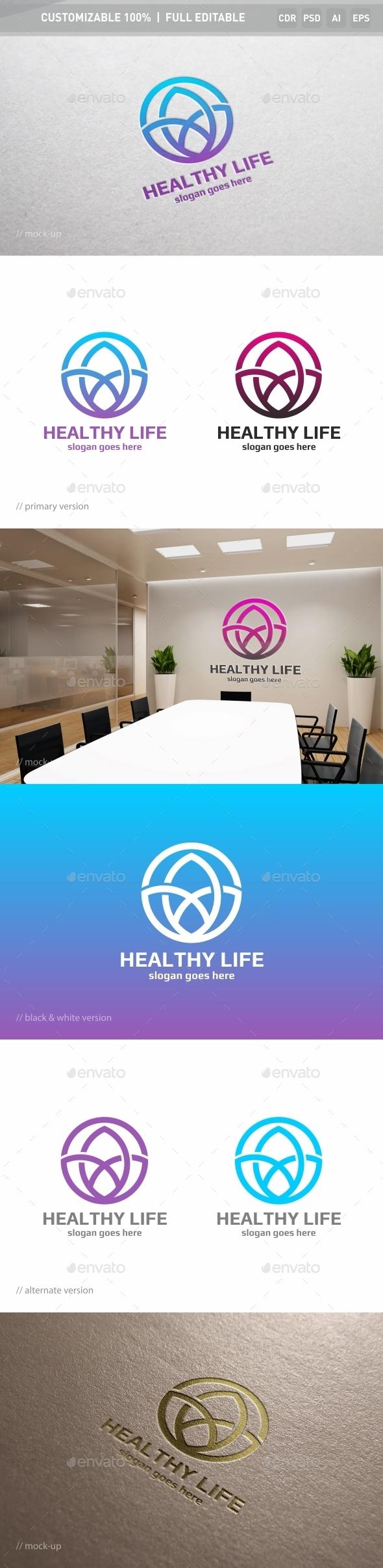 Healthy Life Logo Template - Symbols Logo Templates