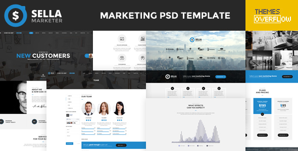 Sella - Marketing PSD Template - Marketing Corporate