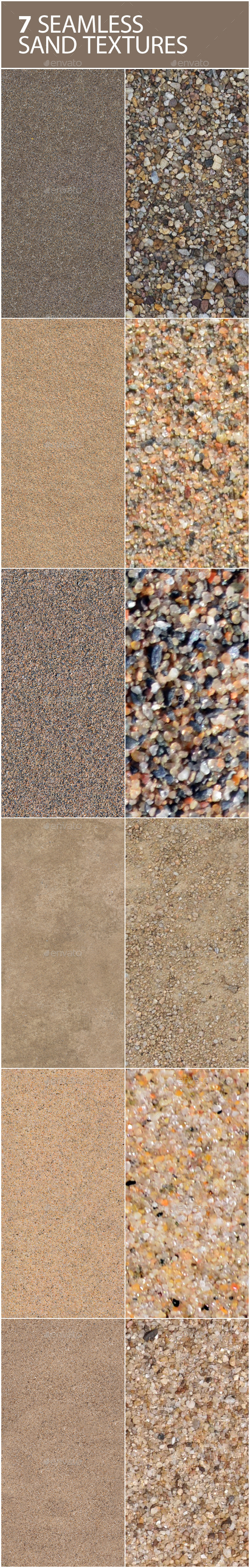 6 seamless textures of sand - 3DOcean Item for Sale