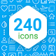 Material line icons (part 1) - GraphicRiver Item for Sale