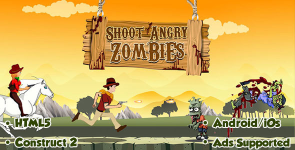 Shoot Angry Zombies - HTML5 Android (CAPX) - CodeCanyon Item for Sale