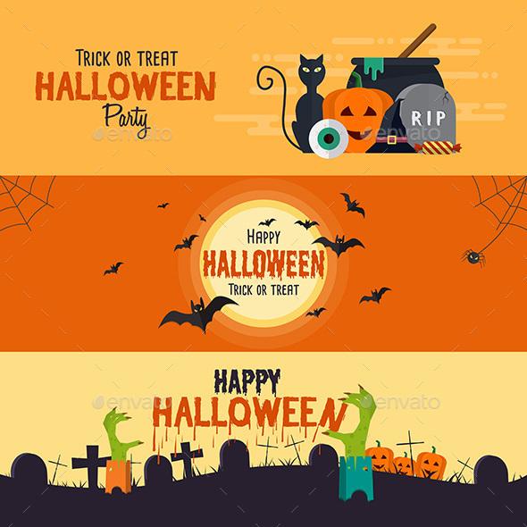 Happy Halloween Banners - Halloween Seasons/Holidays