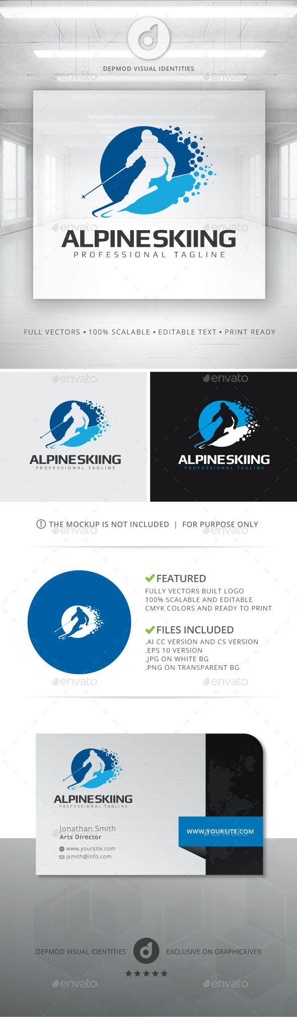 Alpine Skiing Logo - Humans Logo Templates
