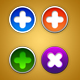 4 Nice Rounded Cross Buttons - GraphicRiver Item for Sale