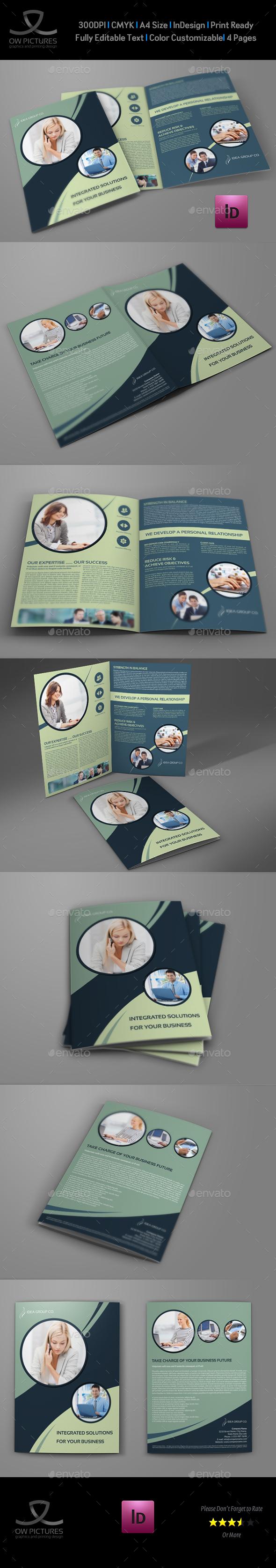 Company Brochure Bi-Fold Template Vol.41
