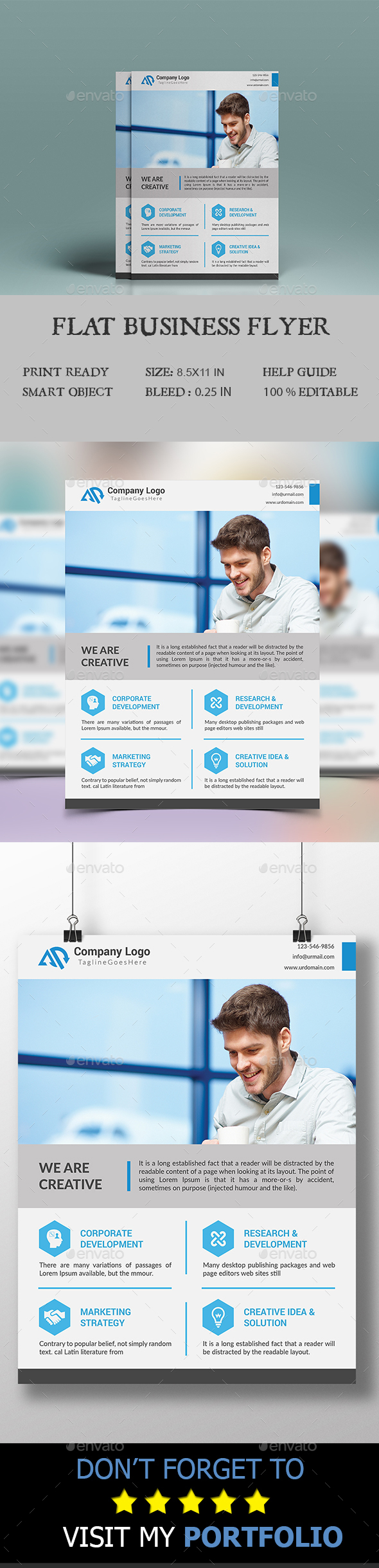 Flat Business Flyer - Corporate Flyers