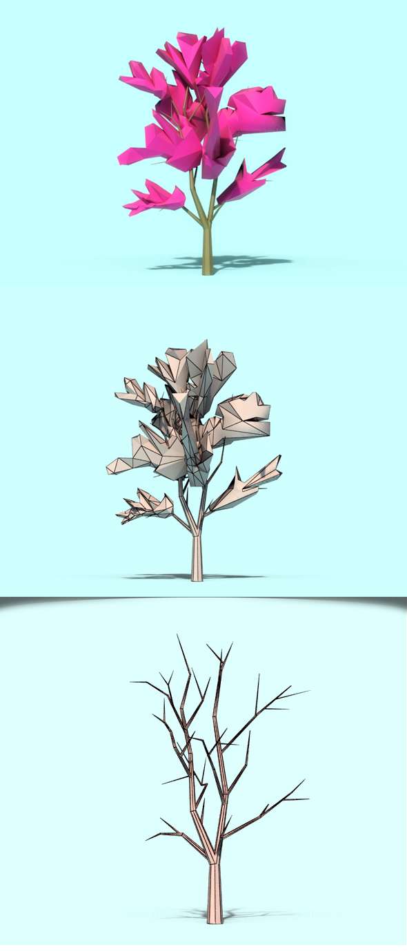 Beautiful Low Poly Tree 02 - 3DOcean Item for Sale