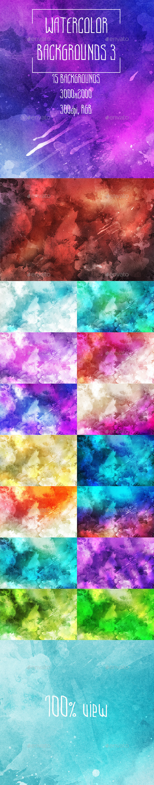 Watercolor Backgrounds 3 - Abstract Backgrounds