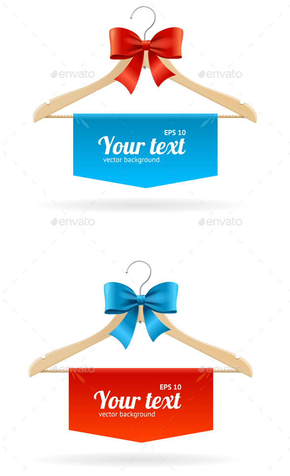 Hanger and Bow Sale Concept for Shop - Retail Commercial / Shopping