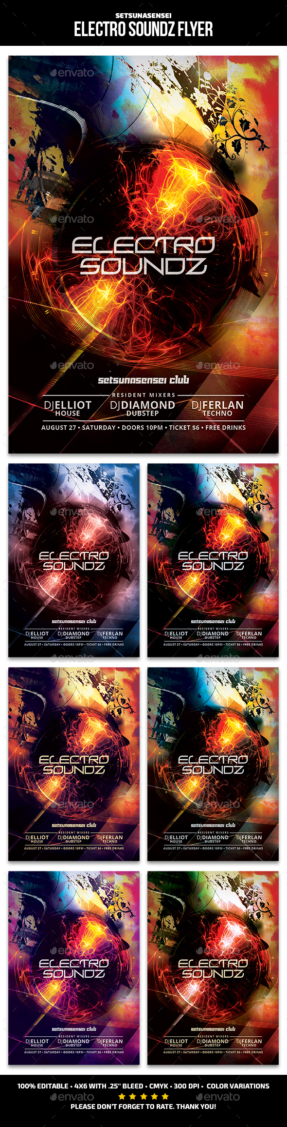 Electro Soundz Flyer - Clubs & Parties Events