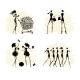 Fashion Girls Black Silhouettes Collection - GraphicRiver Item for Sale