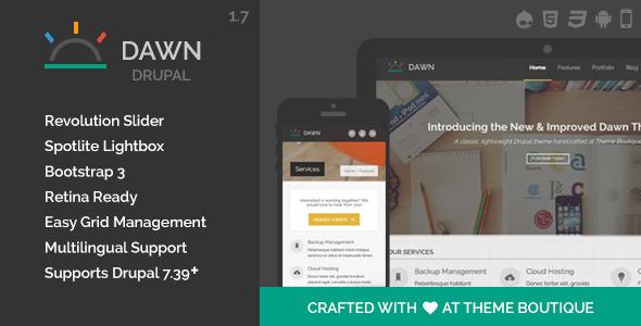 Dawn - Responsive Drupal Theme - Creative Drupal
