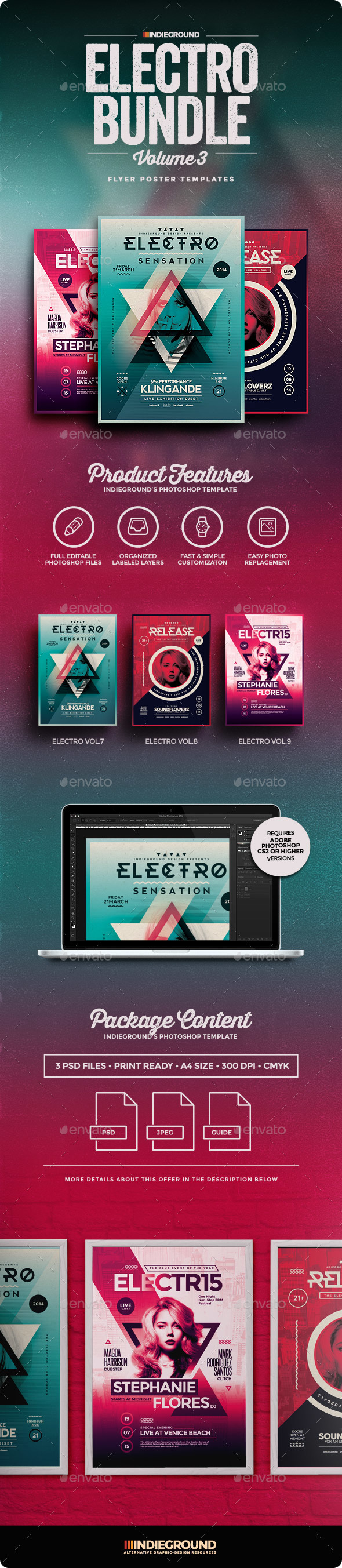 Electro Flyer Poster Bundle Vol 7-9