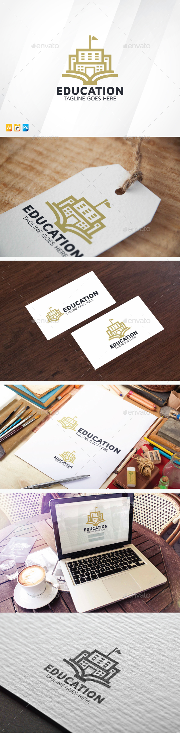 Education - Buildings Logo Templates